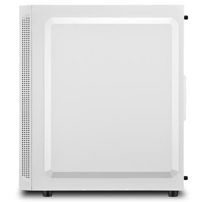 Gabinete Sharkoon RGB Slider, 1x Fan Traseira, Lateral em Vidro Temperado - White