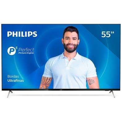 Smart TV Philips 55´, 4K UHD, 3 HDMI, 2 USB, WiFi, Bluetooth, Dolby Atmos - 55PUG7625/78