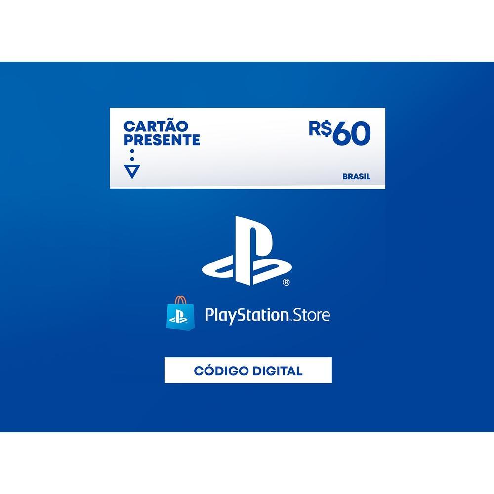 Gift Card PlaystationStore: 60,00 Reais - Código Digital
