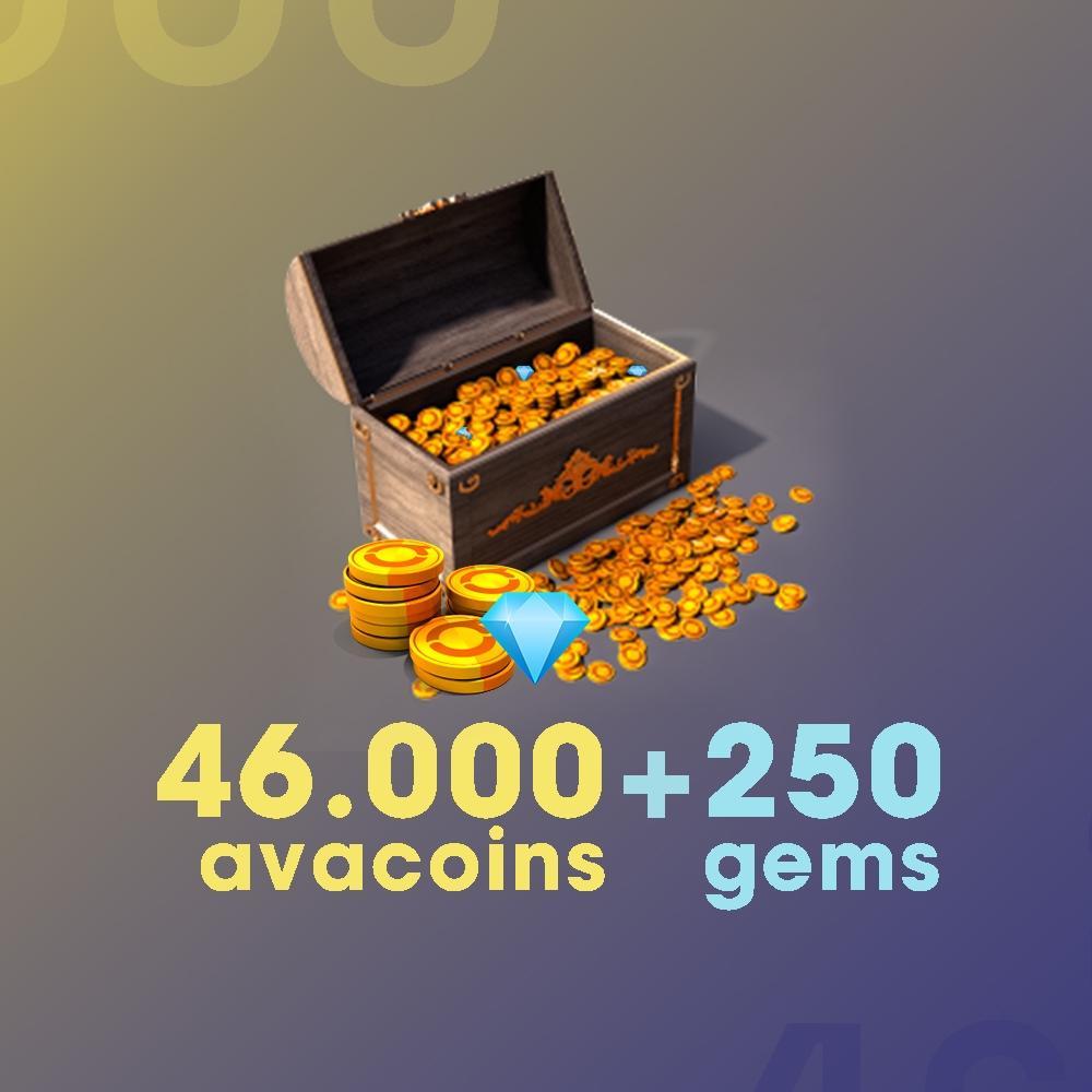 Gift Card Moeda para Jogo Avakin Life: 46.000 Avacoins + 250 Gemas - Produto Digital