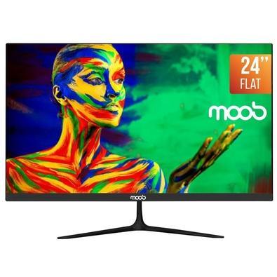 Monitor LED 24'' MOOB, Bordas Ultra Finas, 2ms, Preto