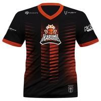 Camiseta Uniforme Oficial KaBuM! e-Sports 2021 Husky Gaming, Preta e Laranja, Dry-Fit, Proteção UV 50+, Tamanho GG