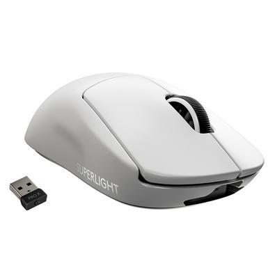 Mouse Sem Fio Gamer Logitech G PRO X Superlight, Lightspeed, 5 Botões, 25000 DPI, Branco - 910-005941
