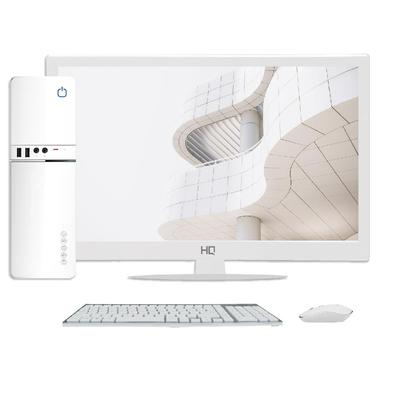 Computador Skill SlimPC Intel Celeron G4930 8ª Geração, 4GB, DDR4, SSD 480GB, Intel UHD 610, Monitor 15.6´, LED, HDMI, Branco