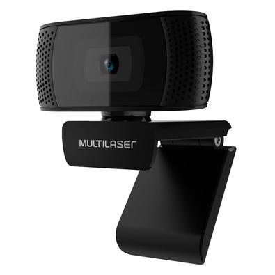 Webcam Multilaser com Microfone Integrado, 1080p 30FPS, Preto - WC050