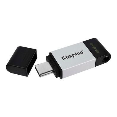 Pen Drive DataTraveler USB 80 64GB Kingston com Conexão USB Tipo C - DT80/64GB