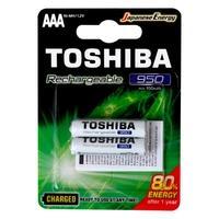 Pilha Recarregável AAA Toshiba, 2x Unidades, 950mAH - 72476