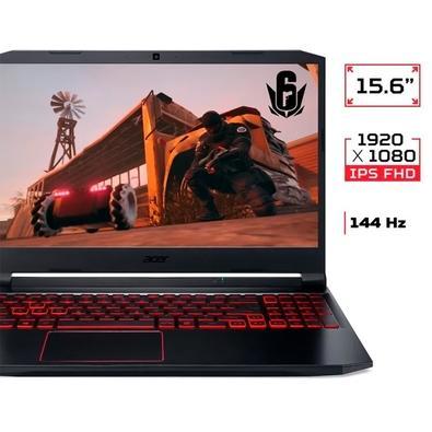 Notebook Gamer Acer Nitro 5 Intel Core i7-10750H, GTX 1660TI 6GB, 8GB RAM, 512GB SSD, 15.6´, Win 10 Home, Preto/Vermelho - AN515-55-705U