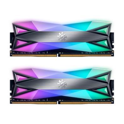 Memória XPG Gammix D60G, 16GB (2x8GB), 3000MHz, DDR4, RGB, CL16, Preto - AX4U30008G16A-DT60
