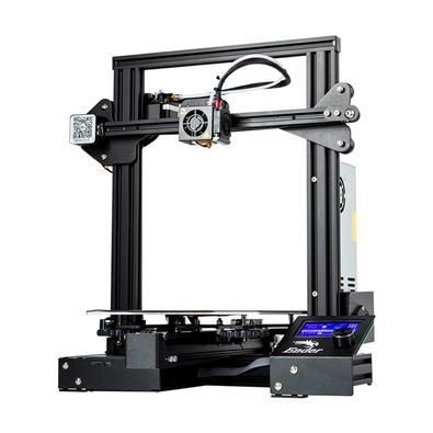 Impressora 3D Creality Ender-3 Printer, Velocidade Máxima de 180mm/s, Bico de 0.4mm, Estrutura em Alumínio Anodizado - 9899010264