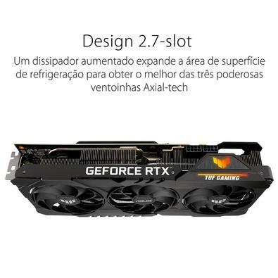 Placa de Vídeo Asus TUF RTX 3080 Ti O12G Gaming LHR, 19 Gbps, 12GB GDDR6X, Ray Tracing, DLSS - 90YV0GU1-M0NM00