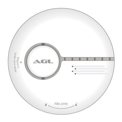 Detector de Fumaça Smart AGL, WiFi, com LED Indicativo, Branco - 1106064