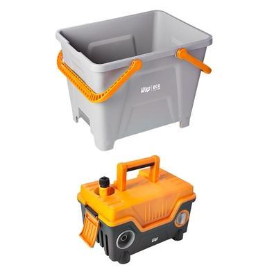 Lavadora de Alta Pressão Wap Eco Smart 2200, 23L, 1750W, 1700 PSI, 390L/h, 220V, Cinza/Amarelo - FW007116