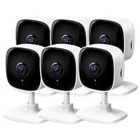 Kit 6 Câmeras de Monitoramento Tapo Tp-Link, Wi Fi, 1080p Full HD, com Detector de Movimentos, Alarme Sonoro e Visão Noturna - C100