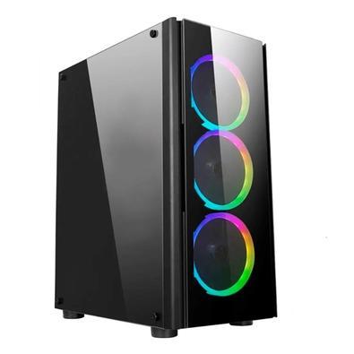 PC Gamer NTC Vulcano X Powered By Asus AMD Ryzen 7 3700x, NVIDIA Geforce RTX 2060, 16GB RAM, SSD 480GB, RGB, Linux, Preto - 7302