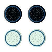 Grip de Silicone PS5  Trust GXT 266 Botão Analógico, 4 Peças 2 Cores, Preto/Branco - 24170