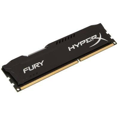 Memória Kingston HyperX FURY 8GB 1600Mhz DDR3 CL10 Black - HX316C10FB/8