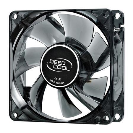 Cooler FAN DeepCool Wind Blade 80 8cm Super Silent Big Airflow Blue LED DP-FLED-WB80