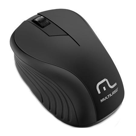 Mouse Sem Fio Multilaser 1200DPI 2.4GHz - MO212