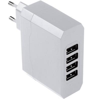 Carregador de  Parede Multilaser  com 4 Saídas USB/ Bivolt/ 4.8A CB076