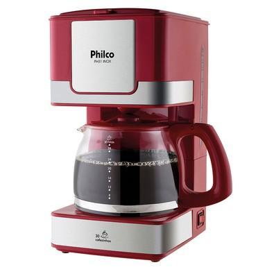 Cafeteira Philco PH31 Inox Vermelha - 110V