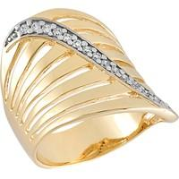Anel Dourado com Zircônias Tamanho 20 - AN700240F