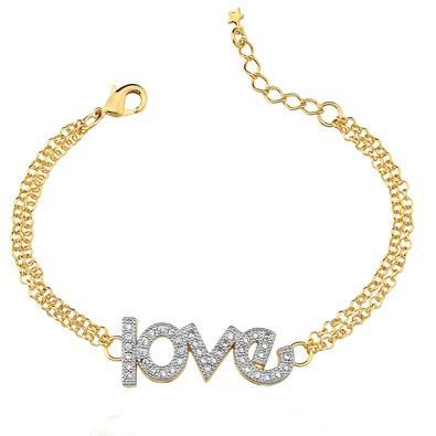 Pulseira Love com Micro Zircônia - PL600406F