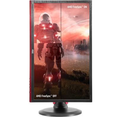 Monitor Gamer AOC Hero LED 24´ Widescreen, Full HD, HDMI/VGA/DVI/Display Port, FreeSync, Som Integrado, 144Hz, 1ms, Altura Ajustável - G2460PF