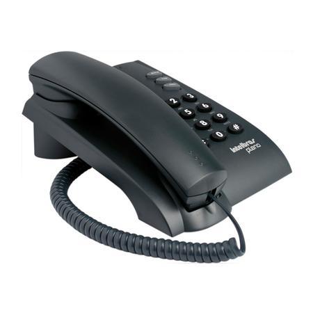 Telefone Intelbras pleno com chave  Preto
