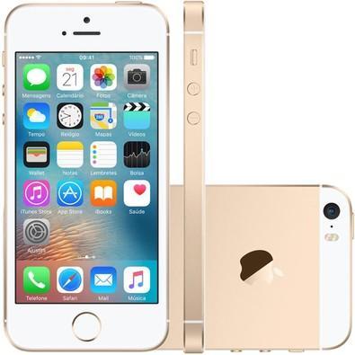 Apple Iphone Se, Chip A9, Ios 9, Tela 4´, 16gb, Câmera 12mp, 4g, Desbloqueado Mlxm2bz/a - Dourado