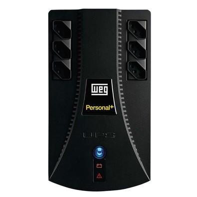 Nobreak WEG Personal 1200VA, TE Bivolt - TS 115V c/ 1 Bateria Selada VRLA de 9Ah 13714371