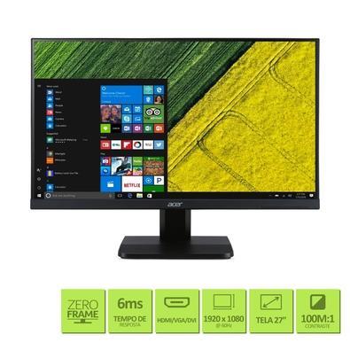 Monitor Acer LED 27´ Widescreen, Full HD, HDMI/VGA/DVI, Som Integrado - VA270H