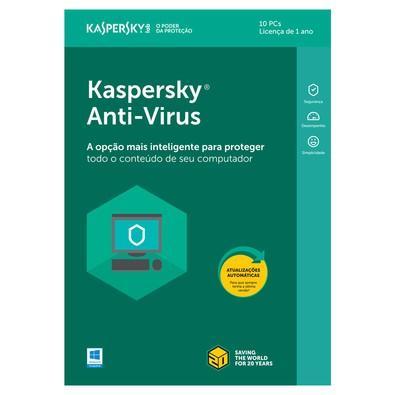 Kaspersky Antivírus 2018 10 PCs - Digital para Download