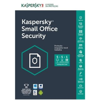 Kaspersky Small Office Security Multidispositivos 5 PCs + 5 Mobile + 1 Server - Digital para Download