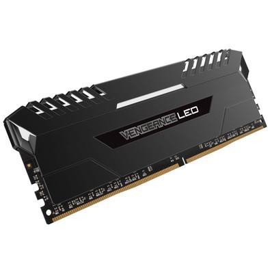 Memória Corsair Vengeance LED Branco,16GB (2x8GB), 3000MHz, DDR4, CL15, Preto - CMU16GX4M2C3000C15