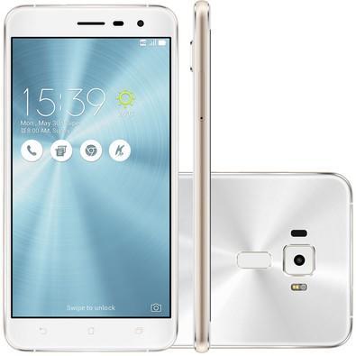 Smartphone Asus Zenfone 3, 32GB, 16MP, Tela 5.2´, Branco - ZE520KL-1B075BR