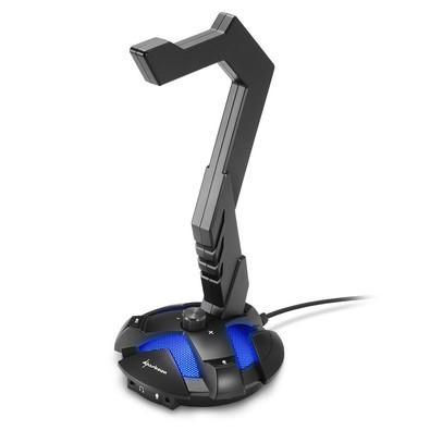 Suporte para Headset Sharkoon X-Rest com Placa de Som 7.1 Embutida