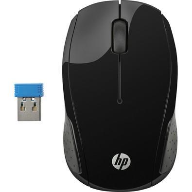 Mouse HP sem fio X200 Oman Preto  - X6W31AAABL