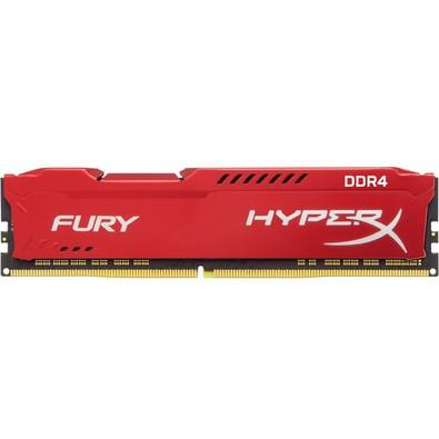 Memória Kingston HyperX FURY 16GB 2666Mhz DDR4 CL16 Red - HX426C16FR/16