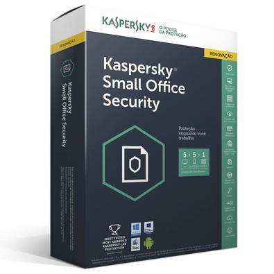 Kaspersky Small Office Security Multidispositivos 5 PCs + 5 Mobile + 1 Server Renovação