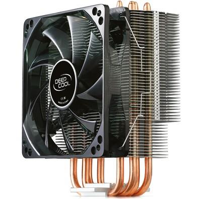 Cooler para Processador DeepCool Intel/AMD GAMMAXX 400 Silente 120mm PWM Fan With Red Led Light - DP-MCH4-GMX400RD