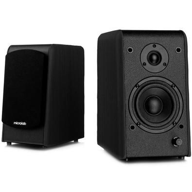 Caixa de Som Microlab Just Listen B77BT Bluetooth Preta 2.0 64 Watts