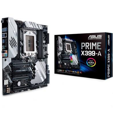 Placa-Mãe ASUS p/ AMD TR4, e-ATX, PRIME X399-A, DDR4, SLI/CrossFireX, 6 x SATA 6Gb, Raid 0,1,10, 8x USB 3.1, Aura RGB Strip Headers