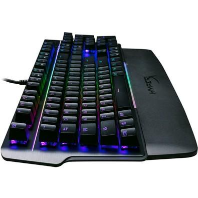 Teclado Mecânico Gamer HyperX Mars, RGB, Switch Outemu Bluem, US - HX-KB3BL3-US/R4