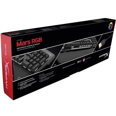 Teclado Mecânico Gamer HyperX Mars, RGB, Switch Outemu Blue, US - HX-KB3BL3-US/R4