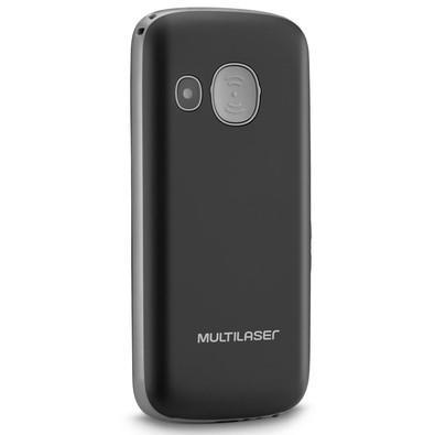 Celular Multilaser Vita, Tela 1.8´, Câmera, Alarme, Botão para Emergência, Lanterna, Dual Chip, Desbloqueado, Preto - P9048