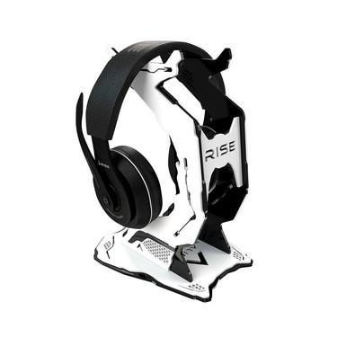 Suporte para Headset Rise Alien Pro Preto e Branco - RM-AL-02-BW