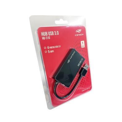 HUB USB C3Tech 4 Portas 3.0 HU-310BK