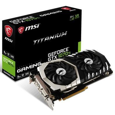 Placa de Vídeo MSI NVIDIA GeForce GTX 1070 Ti Titanium 8G, GDDR5