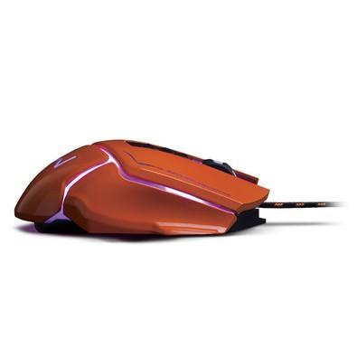 Mouse Gamer Warrior 3.200DPI USB Laranja - MO263